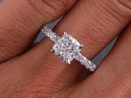 2 carat cushion cut engagement ring 2 carat cushion cut engagement rings on finger lake side corrals