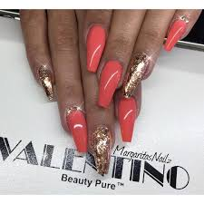 rose gold coffin nails fashion nail art by margaritasnailz nail