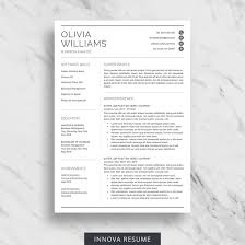 Template For Professional Resume 10 Best Etsy Resume Templates Graphicadi