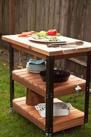 outdoor grill prep table how to make a diy rolling grill cart and bbq prep station