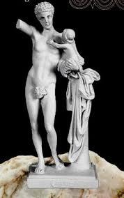 dionysus greek god statue white hermes holding dionysus figurine statue greek god