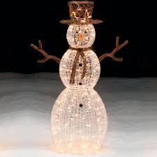 outdoor lighted snowman sacharoff decoration