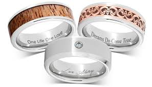 wedding band engravings inscriptions personalized serinium rings and wedding bands