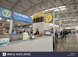 incheon international airport information desk south korea stock