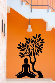 buddha vinyl decal buddha tree blossom yoga meditation relaxation buddha vinyl decal buddha tree blossom yoga meditation relaxation zen mural art wall sticker living room bedroom home decor in wall stickers from home