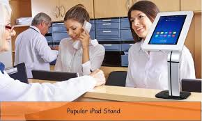 pyle cable management ipad stand for counter help desk