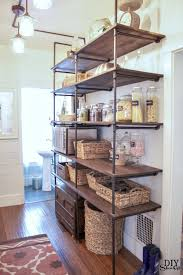 Building Wood Shelves In Pantry by Diy Show Off Open Pantry Pipe Shelving And Shelving