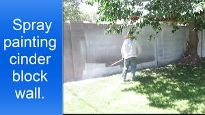 spray painting cinder block walls youtube