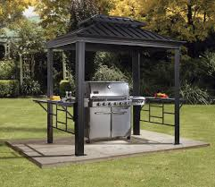 Wonder Working Aluminium Garden Furniture Tags Menards Patio - bbq messina 6 ft w x 8 ft d metal grill gazebo products