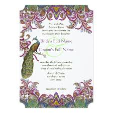 peacock invitations peacock wedding invitations for multicultural weddings