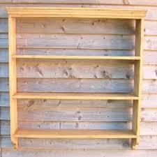 reclaimed pine bookcase decorative wall shelf units open shelf