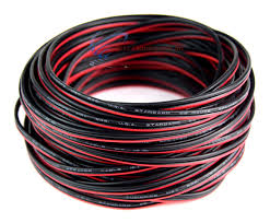 22 gauge 50 u0027 speaker wire audiopipe red black zip cable copper