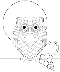 owl coloring pages full moon coloringstar