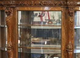 antique curio cabinet with curved glass antique curio cabinet claw feet roselawnlutheran how to sell an