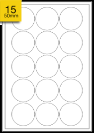 round white labels 50mm a4 sheets of labels