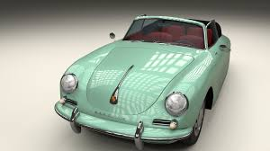 Porsche 356 Convertible 3d Cgtrader