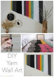 wall art for kitchen ideas diy yarn wall art two thirty five designs