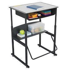 alphabetter adjustable height stand up desk 28 x 20 u201d premium top