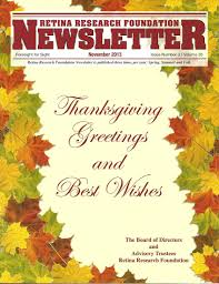 thanksgiving newsletter annual report and newsletters retina research foundation