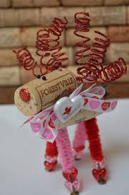wine cork reindeer ornament s day gifts be my