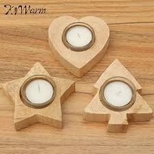 1pcs handmade wooden candle holders with candle wood crafts wooden