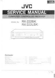 jvc rx222bk l service manual immediate download