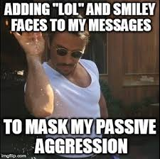 Passive Aggressive Meme - ever ready to hang out yet ya prick d lol imgflip