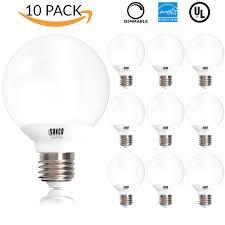 white vanity light bulbs sunco lighting g25 6w dimmable led bulb 40w equivalent vanity