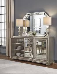 sideboards glamorous white mirrored credenza white mirrored