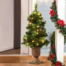 Prelit Outdoor Christmas Trees Costway Rakuten Costway 3ft Pre Lit Christmas Entrance Tree W 40