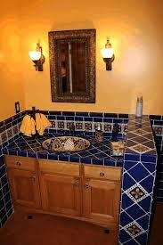 mexican tile bathroom ideas bathroom floor tile ideas white glossy free standing washbasin