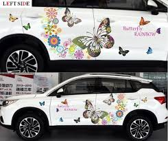 left side car stickers customizable fashion butterfly car styling