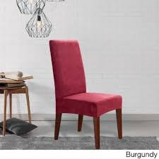 sure fit soft suede shorty dining room chair slipcover 7013