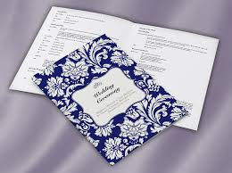 classic collection ceremony booklets wedding print