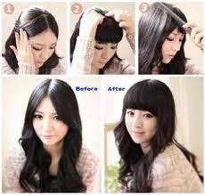hair clip poni cara memakai hairclip poni sendiri wigime