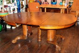 Dining Room Antique Oak Pedestal Table Decor Value Clawfoot Lions - Antique oak kitchen table