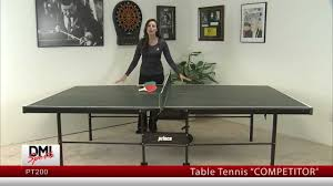 2 piece ping pong table table tennis table pt200 competitor prince youtube