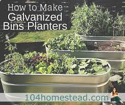 a 3 step guide to using galvanized bins as planters