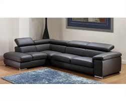 sofa cute modern leather sectional sofa set in dark grey finish