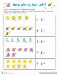 outer space math worksheet education com