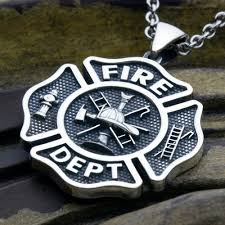 design sterling silver necklace images Large maltese cross fire department sterling silver necklace jpg