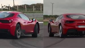 ferrari 488 speciale watch the ferrari 488 gtb face off against the 458 speciale on track