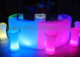 Plastic Bar Table Restaurant Bar Counter Plastic Glow Led Lighting Round Lighted