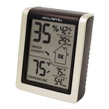 room measurement tool acurite digital humidity and temperature comfort monitor 00619hd