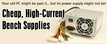 Pc Power Supply Bench Silicon Chip Online A Cheap High Current Bench Power Supply