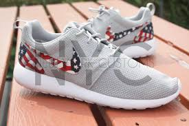 look good shoes nike roshe run grey american flag pride q6060000003343