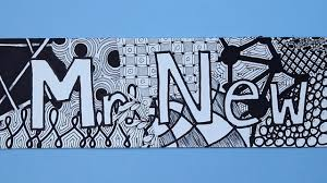 pattern art name zentangle nametags step by step tutorial for turning your name