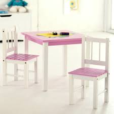 Pink Table L 49 Kid Table And Chair Set Oak Table With Black Chairs