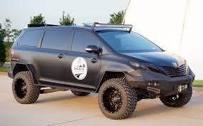 toyota custom cars try calling this custom toyota sienna a soccer mom u0027s minivan