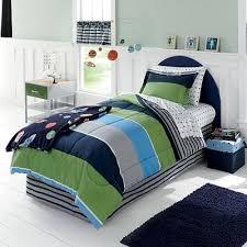 kohls kids bedding blue navy green gray boys stars and stripes twin comforter set
